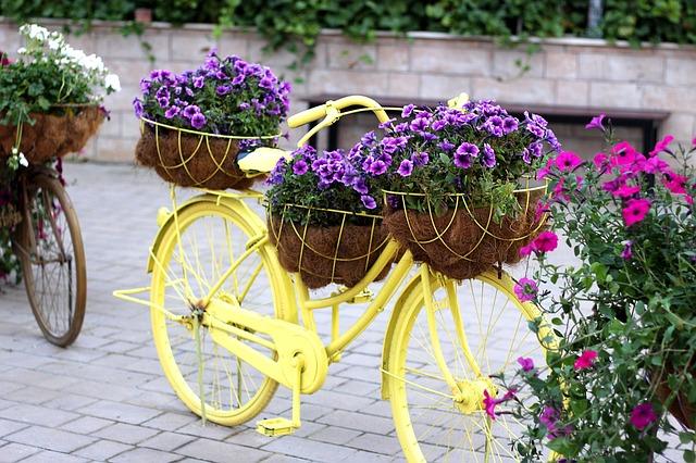 In bicicletta con vintage riciclati Charcy a Dubai