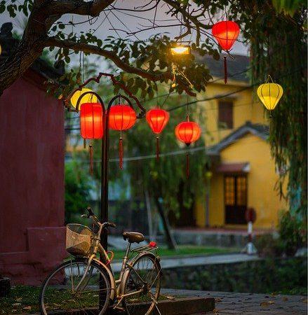 Combinazione perfetta: colori autunnali e bicicletta elettrica da montagna